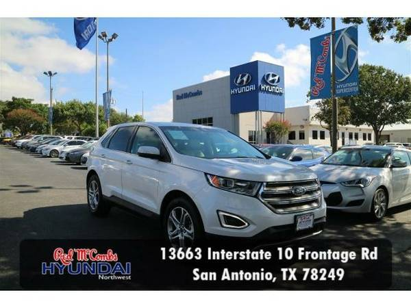 2015 *Ford Edge* Titanium (White Platinum Metallic Tri-Coat) Habla...
