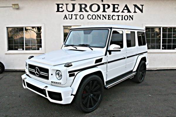 MERCEDES BENZ G WAGON DIAMOND WHITE AMG PKG UPGRADED TO 2016 G55 G500