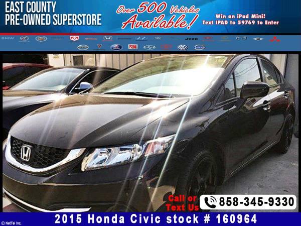 2015 Honda Civic Sedan LX Stock #160964