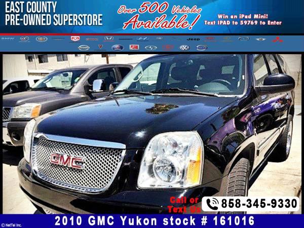 2010 GMC Yukon Denali Stock #161016