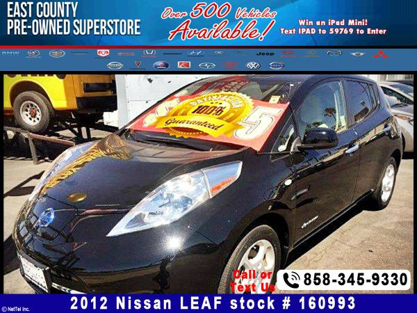 2012 Nissan LEAF SV Stock #160993