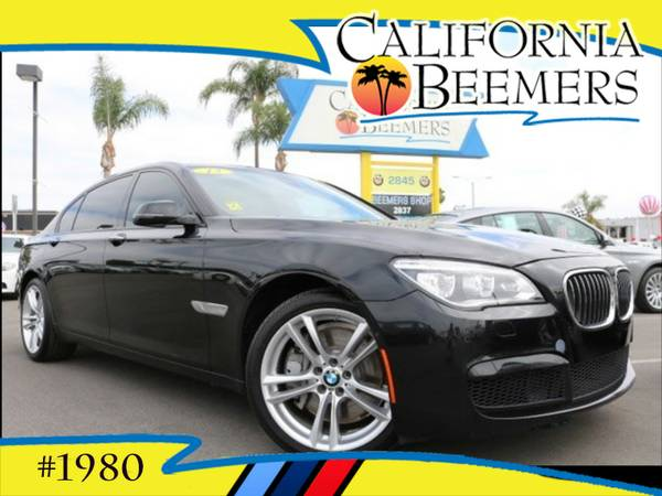 2013 BMW 750Li M Pkg Black Sapphire Metalic