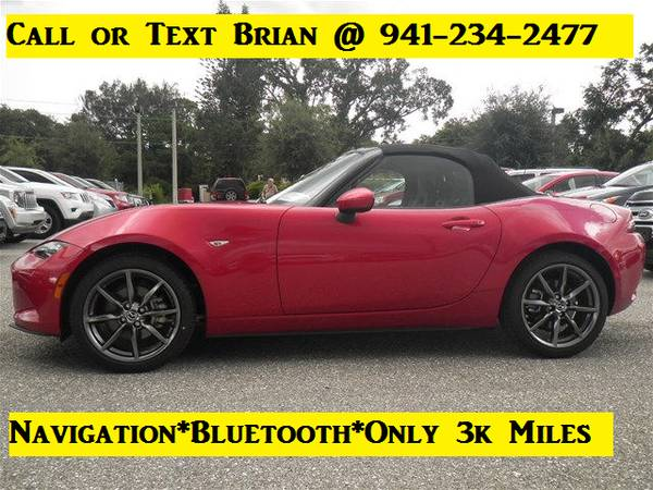 2016 Mazda MX-5 Miata Grand Touring 3k Miles*NAV*Bluetooth*1owner*ZOOM