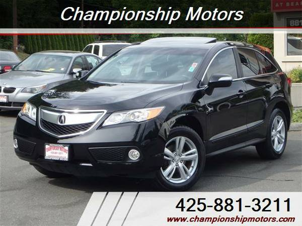 1-Owner Local 2013 Acura RDX AWD Black on Black 49k Low Miles Like-New