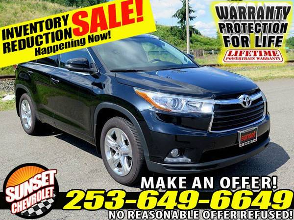 2015 *Toyota Highlander Limited V-6 3.5L AWD Crossover SUV Highlander