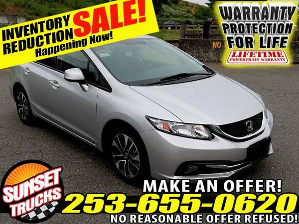 2013 *Honda* *Civic* EX-L I4 1.8L 5-Speed Automatic Sedan sedans