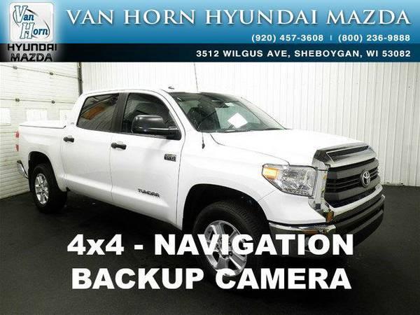 2015 *Toyota Tundra* SR5 4X4 NAV - Super White BAD CREDIT OK!
