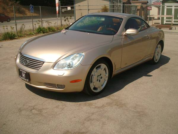 2004 LEXUS SC 430 HARD TOP CONVERTABLE RARE ONE OWNER LOW MILES SWEET!