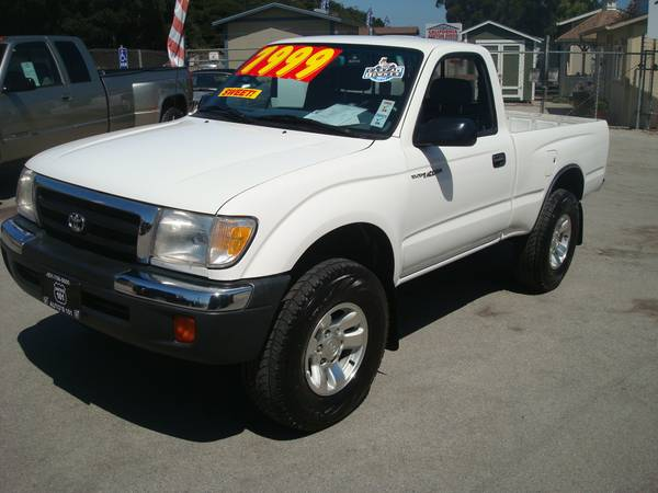 2000 TOYOTA TACOMA SHORT BED TRUCK GAS SAVER