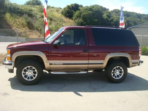 1999 CHEVROLET TAHOE 2 DOOR SUV 4X4 RARE V8 BARN DOORS EXTRA CLEAN