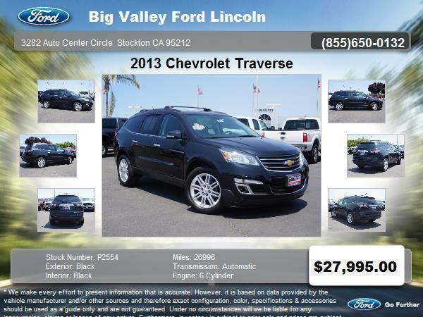 2013 Chevrolet Traverse LT 4dr SUV w/1LT LT only 26,996 miles
