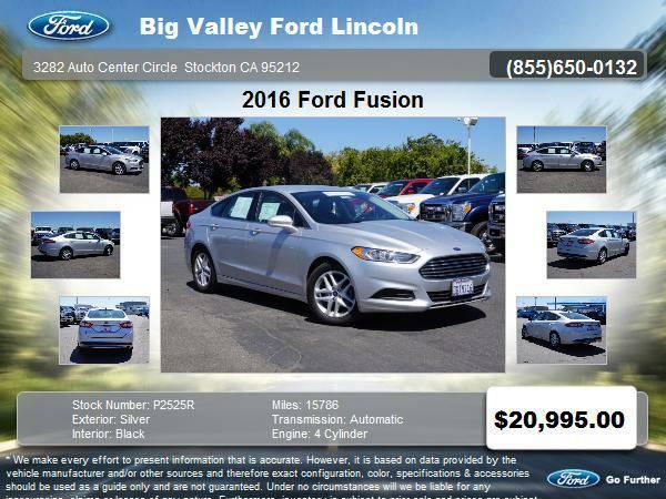 2016 Ford Fusion SE 4dr Sedan SE