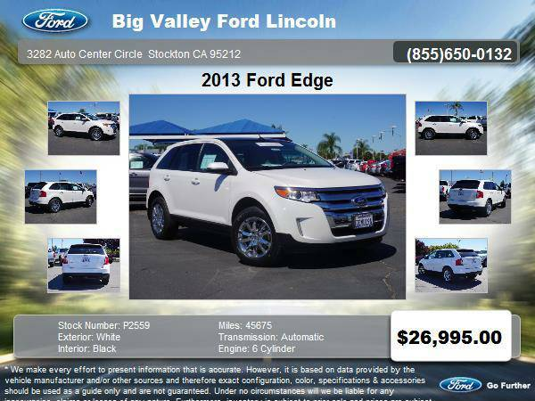 2013 Ford Edge AWD SEL 4dr SUV SEL