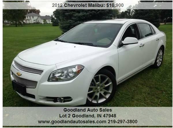 2012 Chevrolet Malibu LTZ -White