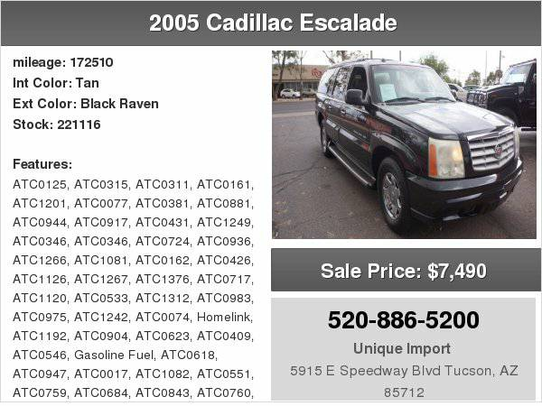 2005 Cadillac Escalade We finance any one with right down payment!!!!!