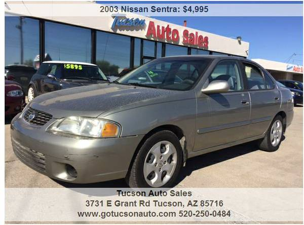 2003 NISSAN SENTRA GXE .......... EXCELLENT CONDITION! WE FINANCE!