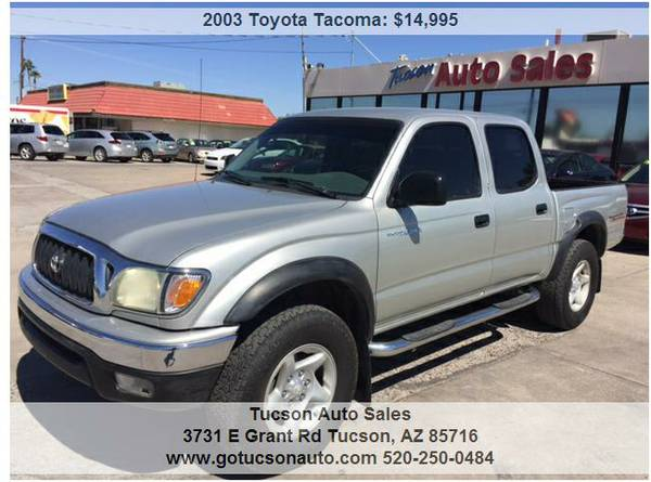 2003 TOYOTA TACOMA DOUBLE CAB PRERUNNER TRD ..... LOW MILEAGE!
