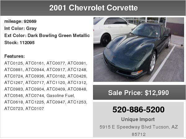 2001 Chevrolet Corvette Base We finance any one with right down...