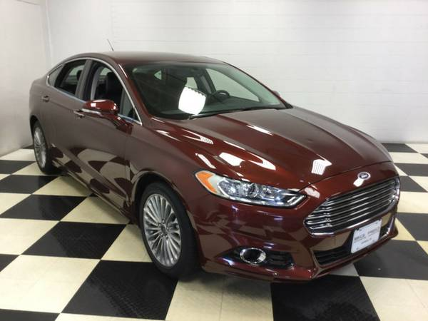 2016 FORD FUSION TITANIUM LUXURY EQUIPPED!! LOW MILES ! ONE OWNER!!