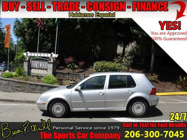 2001 VOLKSWAGEN GOLF SEDAN HATCBACK GLS~LOW MILES~