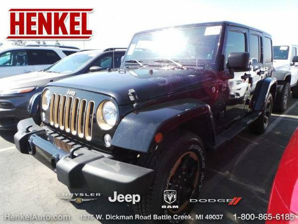 2014 *Jeep Wrangler Unlimited* Sahara 4X4 - Black Clearcoat