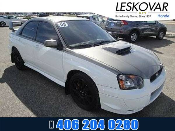 *2005* *Subaru Impreza Sedan* *4dr Car Base* *Aspen White*