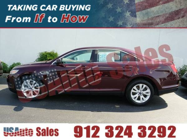 2011 FORD TAURUS SEL RED