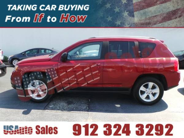 2012 JEEP COMPASS LATITUDE RED