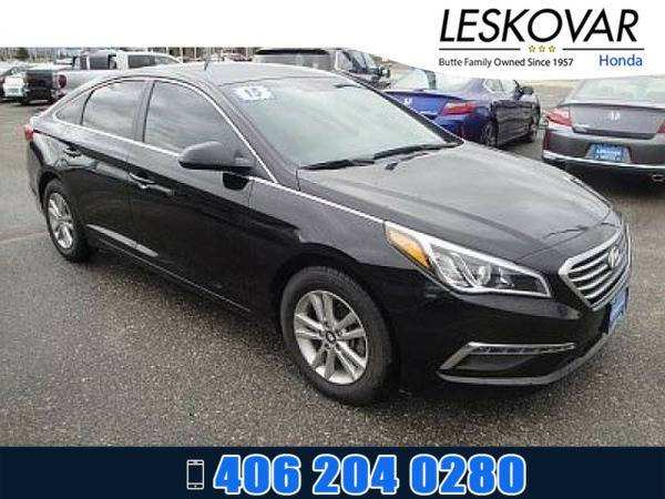 *2015* *Hyundai Sonata* *4dr Car 2.4L SE* *Phantom Black*