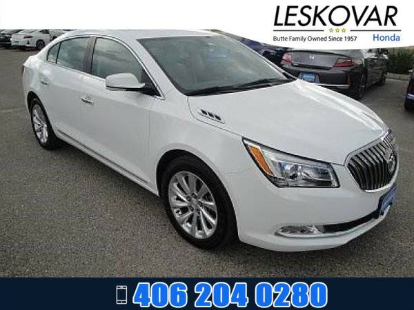 *2016* *Buick LaCrosse* *4dr Car Leather* *White*
