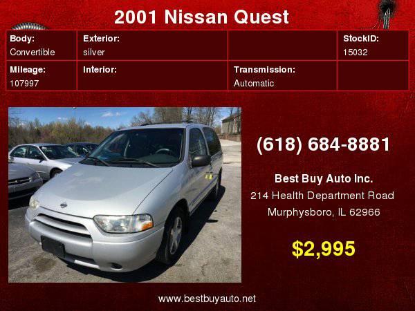2001 Nissan Quest GXE 4dr Minivan Call Steve or Dean at