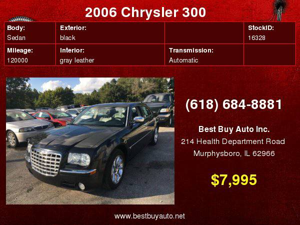 2006 Chrysler 300 C 4dr Sedan Call Steve or Dean at