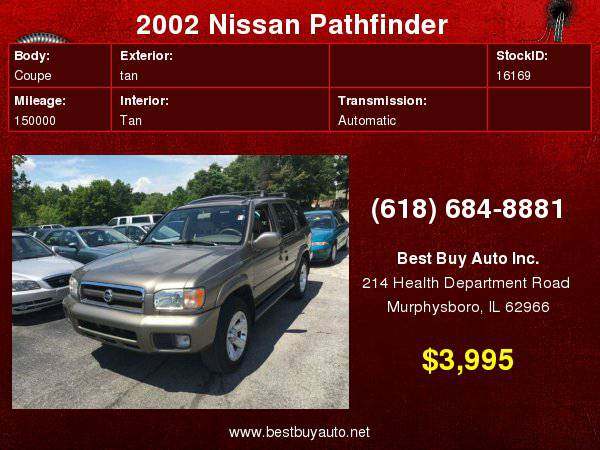 2002 Nissan Pathfinder LE 4WD 4dr SUV Call Steve or Dean at