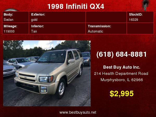 1998 Infiniti QX4 4dr 4WD SUV Call Steve or Dean at