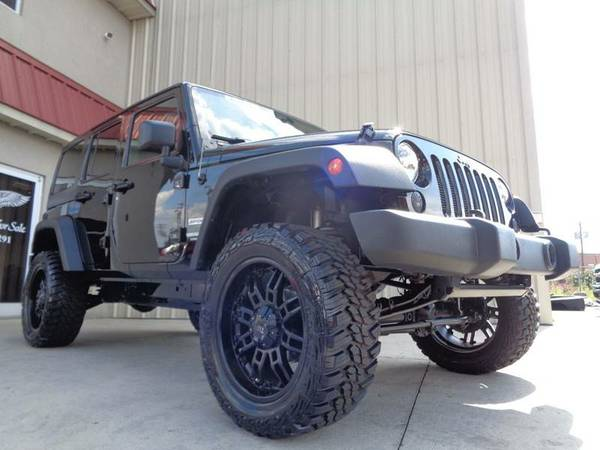 LONG ARM LIFTED 2012 JEEP WRANGLER UNLIMITED SPORT HARD TOP 4X4 !L@@K!