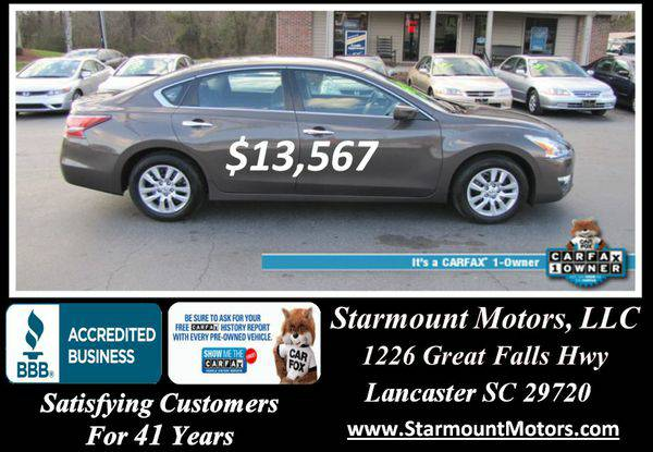 2015 *Nissan* *Altima* S -GUARANTEED CREDIT APPROVAL!!!