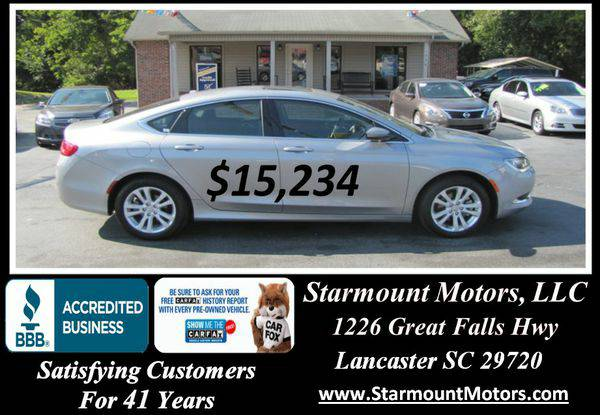 2015 *Chrysler* *200* Limited -GUARANTEED CREDIT APPROVAL!!!
