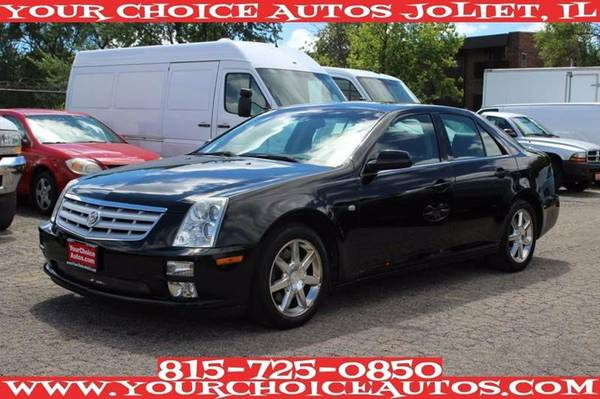 2007 CADILLAC STS V6 BLACK ON BLACK LTHR SUNROOF KEYLES ALLOY 163362