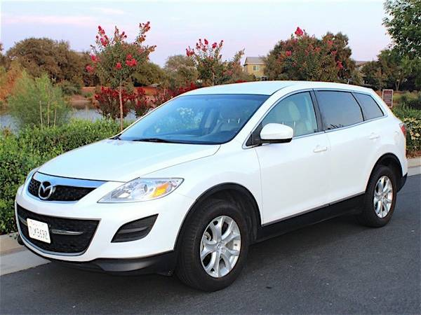 2011 Mazda CX-9 Pearl White w/ Bluetooth 3rd row 7 seat 92k miles only
