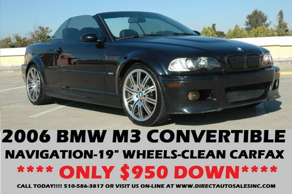 ►2006 BMW M3 CONVERTIBLE VERY CLEAN!$950DOWN!SEE PICS m5 m6