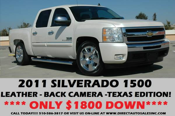 ♛ 2011 CHEVY SILVERADO LOWERD TEXAS ED!$1800DOWN SIERRA...