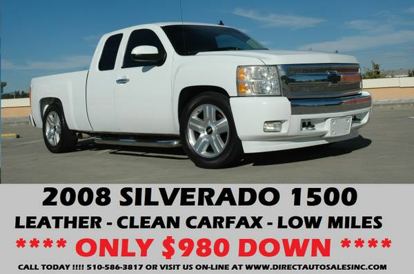♛2008 SILVERADO LOWERD LOW 74K MILES $1450 DOWN AVALANCHE SIERRA