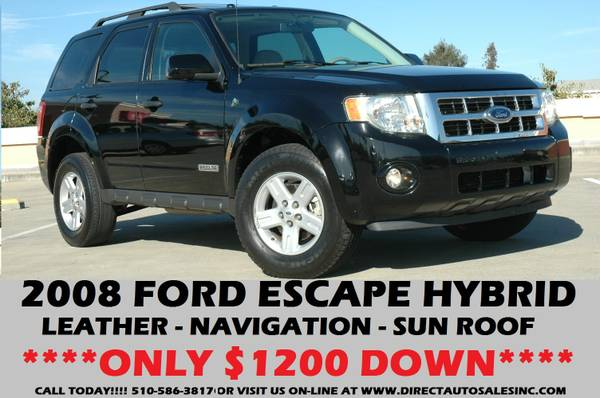 ►2008 FORD ESCAPE HAYBRID T@P OF LINE!$1200 DOWN EXPLORER PRIUS