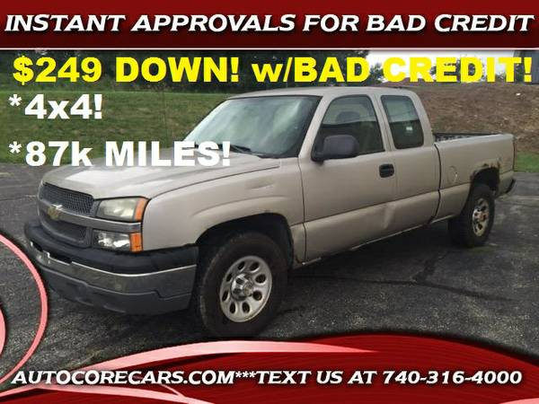 2005 Chevrolet SILVERADO 4X4**87K**$249 DOWN W/ BAD CREDIT guaranteed!