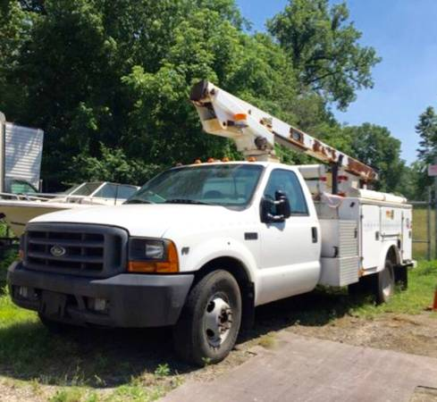 SELLING -2000 FORD F-350 SUPER DUTY BUCKET/COMMERCIAL TRUCK