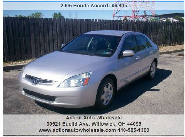 2005 Honda Accord LX 4dr Sedan 2.4L I4 105K Loaded Clean Rust Free