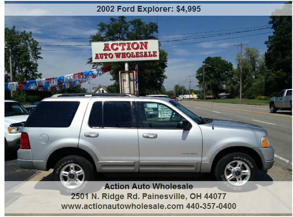 2002 Ford Explorer XLT 2WD 4dr SUV 4.0L V6 136K Tow Package Rust Free