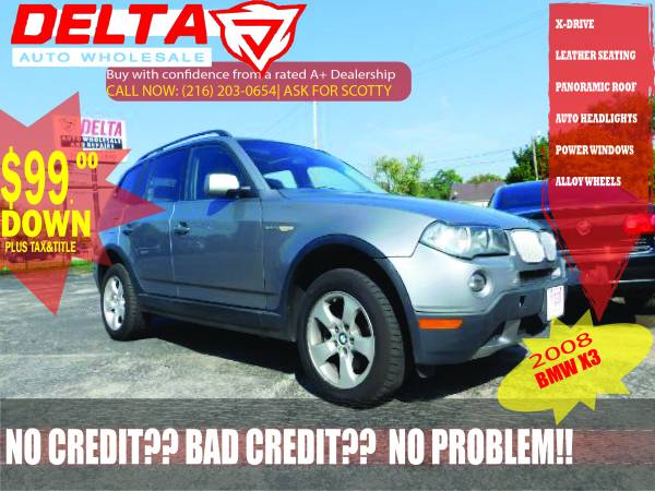 2008 BMW X3: VISIT HERE FOR MORE CARS! ONLY $99 DOWN! WHOLESALE PRICE!