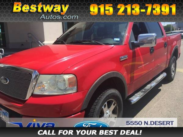 2004 Ford F-150 F150 Red