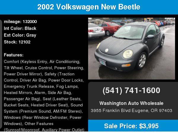 2002 Volkswagen TDI Diesel New Beetle 5-Speed 132,000Miles GLS